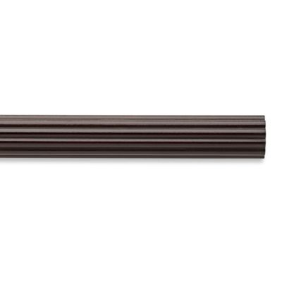 Cambria Chocolate 4 Foot Fluted Wood Pole Decorative Window Curtain Hardware