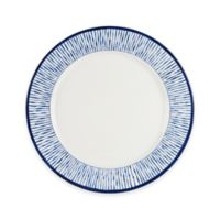Everyday White By Fitz And Floyd Bistro Blue Stripe Dinner Plate