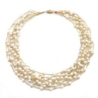 Multi-Strand 4-6.5mm Freshwater Cultured Pearl Necklace