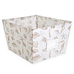 Large Canvas Storage Bin in Beach Print