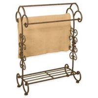 Metal Quilt Rack with Bottom Shelf in Oil Rubbed Bronze