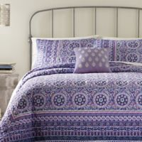 Jessica Simpson Mosaic Border Standard Pillow Sham in Blue