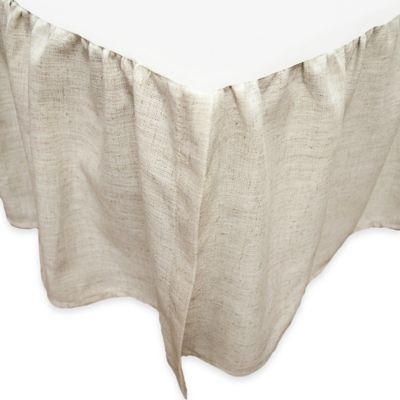 skirt com natural handmade ruffle bedskirt ruffles dp linen shipping amazon bed queen dust