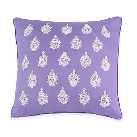 Jessica Simpson Mosaic Border Square Throw Pillow in Purple - Bed Bath & Beyond