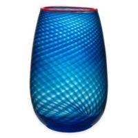 Kosta Boda Large Red Rim Vase