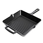 Artisanal Kitchen Supply™ 10-Inch Pre-Seasoned Cast Iron Square Grill Pan