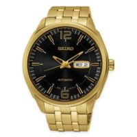 Seiko Recraft Series Men's 44.5mm Automatic Watch in Gold-Tone Stainless Steel