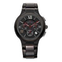 Philip Stein Men's 45mm Round Chronograph Watch in Black PVD Stainless Steel
