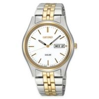 Seiko Men's 37mm Watch in Two-Tone Stainless Steel