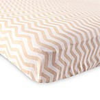 BabyVision® Luvable Friends® Knitted Cotton Chevron Fitted Crib Sheet