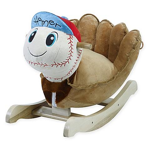 Rockabye Homer Baseball Musical Chair Rocker Buybuy Baby