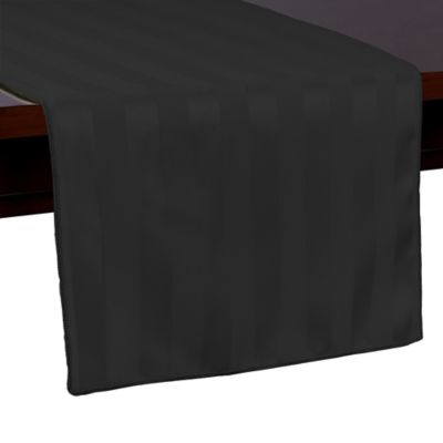 Poly Stripe 54 Inch Table Runner In Black Part 60