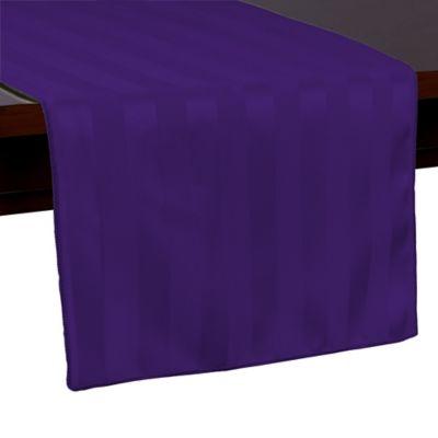 Bon Poly Stripe 54 Inch Table Runner In Purple