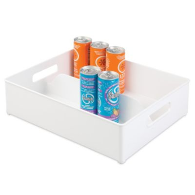 InterDesign Fridge Binz 12 Inch X 14.5 Inch Split Freezer Storage Bin In  White