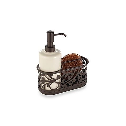 Buy Interdesign Vine Kitchen Sink Soap Dispenser Pump And Sponge Caddy In Bronze From Bed Bath