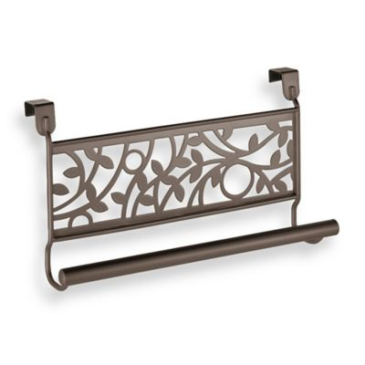 Interdesign Vine Over The Cabinet Kitchen Dish Towel Bar In Bronze