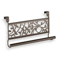 InterDesign® Vine Over the Cabinet Kitchen Dish Towel Bar in Bronze