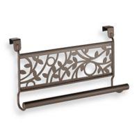 InterDesign® Vine Over the Cabinet Kitchen Dish Towel Bar in Bronze