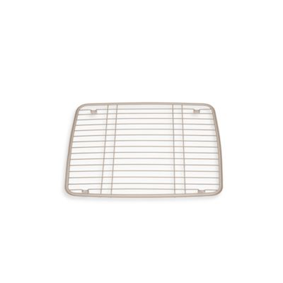 interdesign kitchen sink 13 inch x 105 inch protector grid mat in satin - Kitchen Sink Protector