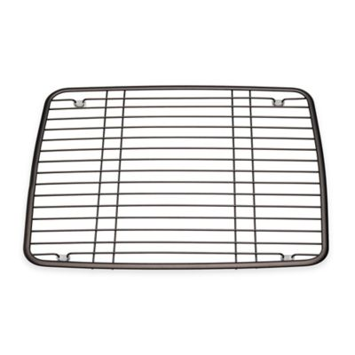 interdesign kitchen sink 13 inch x 105 inch protector grid mat in bronze - Kitchen Sink Protector