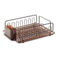 InterDesign® Forma Lupe Dish Drainer in Bronze