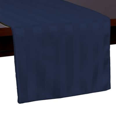 Captivating Poly Stripe 54 Inch Table Runner In Navy