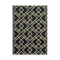 Oriental Weavers Ella Geometric Diamonds 5-Foot 3-Inch x 7-Foot 3-Inch Area Rug in Navy