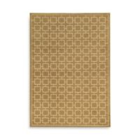 Oriental Weavers Ella Squares 1-Foot 10-Inch x 3-Foot 3-Inch Accent Rug in Gold