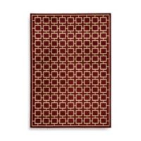 Oriental Weavers Ella Squares 6-Foot 7-Inch x 9-Foot 6-Inch Area Rug in Red