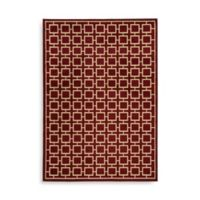 Oriental Weavers Ella Squares 7-Foot 10-Inch x 10-Foot Area Rug in Red