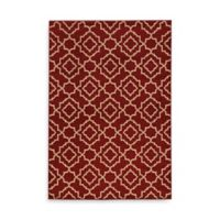 Oriental Weavers Ella Diamond Trellis 1-Foot 10-Inch x 3-Foot 3-Inch Accent Rug in Red