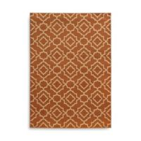 Oriental Weavers Ella Diamond Trellis 1-Foot 10-Inch x 3-Foot 3-Inch Accent Rug in Orange