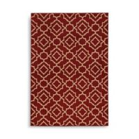 Oriental Weavers Ella Diamond Trellis 5-Foot 3-Inch x 7-Foot 3-Inch Area Rug in Red