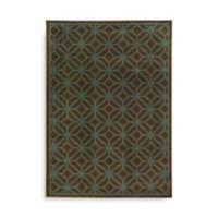 Oriental Weavers Ella Geometric Circles 6-Foot 7-Inch x 9-Foot 6-Inch Area Rug in Brown