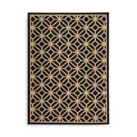Oriental Weavers Ella Geometric Circles 6-Foot 7-Inch x 9-Foot 6-Inch Area Rug in Black