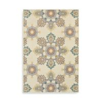 Oriental Weavers Hampton Floral 5-Foot 3-Inch x 7-Foot 6-Inch Area Rug in Ivory