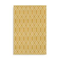 Oriental Weavers Hampton Geometric 5-Foot 3-Inch x 7-Foot 6-Inch Area Rug in Gold