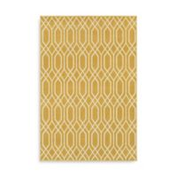 Oriental Weavers Hampton Geometric 6-Foot 7-Inch x 9-Foot 6-Inch Area Rug in Gold