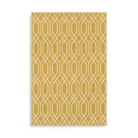 Oriental Weavers Hampton Geometric 9-Foot 10-Inch x 12-Foot 10-Inch Area Rug in Gold