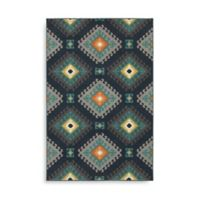 Oriental Weavers Hampton Geometric Diamond 1-Foot 10-Inch x 7-Foot 6-Inch Runner in Navy