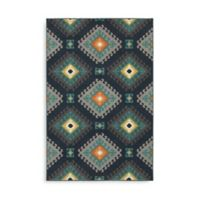 Oriental Weavers Hampton Geometric Diamond 5-Foot 3-Inch x 7-Foot 6-Inch Area Rug in Navy