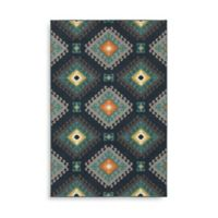 Oriental Weavers Hampton Geometric Diamond 6-Foot 7-Inch x 9-Foot 6-Inch Area Rug in Navy
