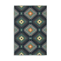 Oriental Weavers Hampton Geometric Diamond 7-Foot 10-Inch x 10-Foot 10-Inch Area Rug in Navy
