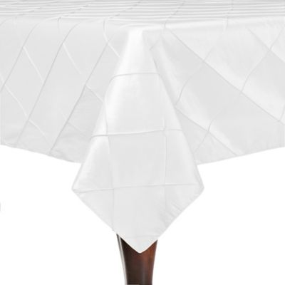 Attrayant Bombay 54 Inch Square Tablecloth In White