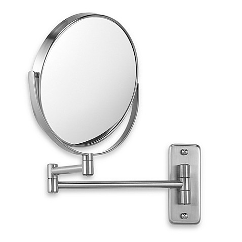 wall mounted mirror jerdon wall mount 8x 1x magnifying swivel mirror in nickel 28893