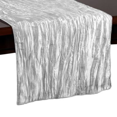 Beautiful Delano 54 Inch Table Runner In Silver