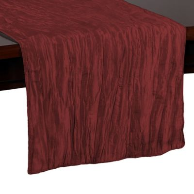 High Quality Delano 54 Inch Table Runner In Burgundy