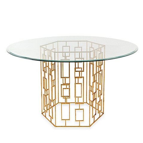 image of Alexandra Dining Table in Gold Leaf