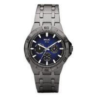 Relic® Garrett Men's 42mm Blue Dial Multifunction Watch in Gunmetal Stainless Steel