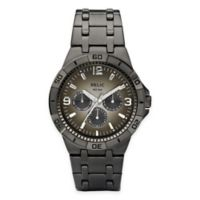Relic® Garrett Men's 42mm Brown Dial Multifunction Watch in Ion-Plated Stainless Steel